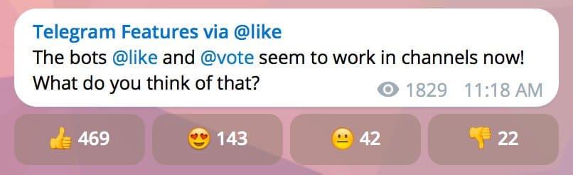 افزایش رای در تلگرام